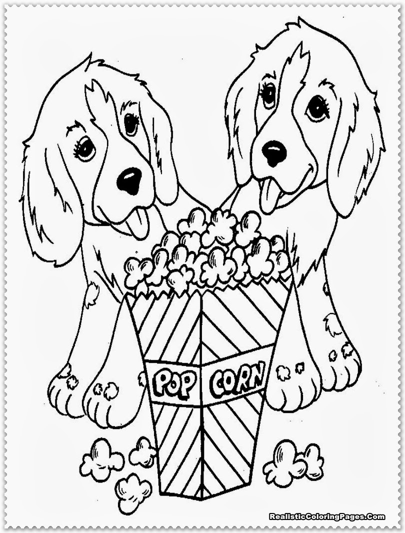 cute dog coloring pages for kids dog breeds picture