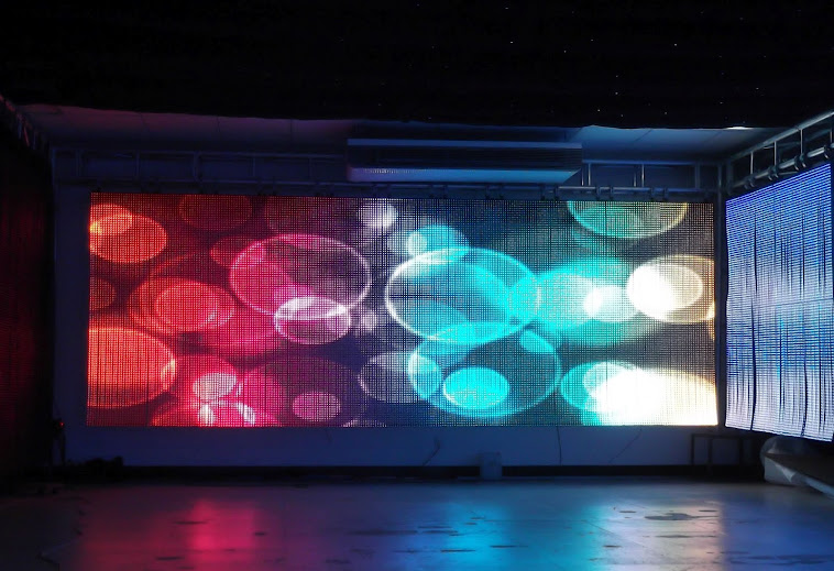 Soft LED curtain screen,Flex dot string,Transparent LED screen