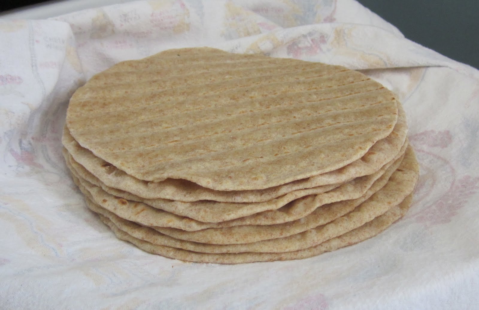recipe makes eight 6-inch whole wheat tortillas. Finished tortillas ...