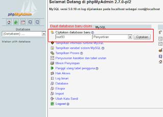 proses pembuatan database slims