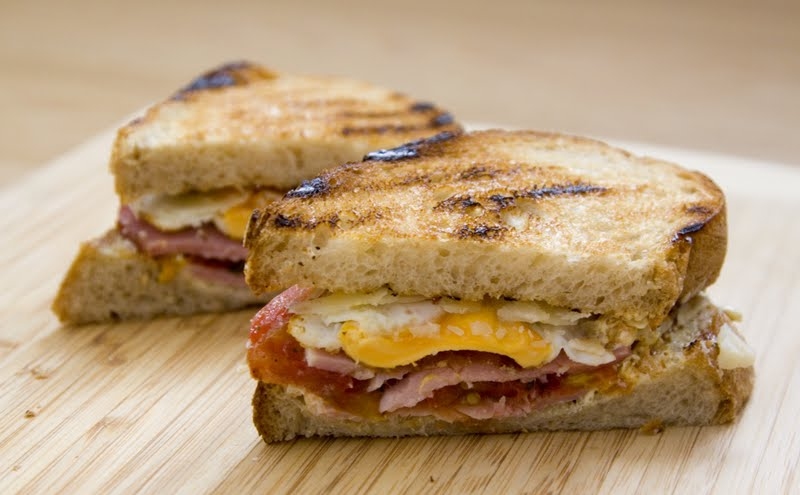 ... Makes Me Happy: Smoked Ham Sandwich with Aioli and Parmigiano Reggiano