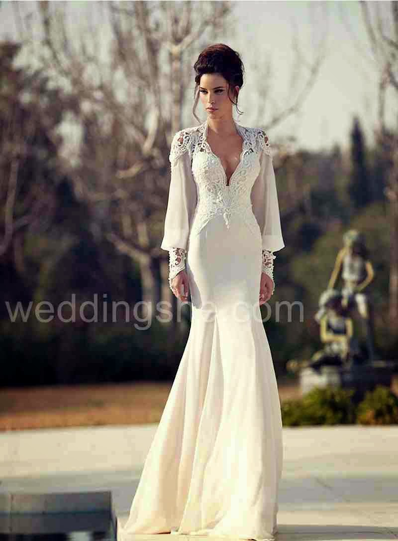 Inspiration: Stunningly Gorgeous Long-sleeved Wedding Gowns ...