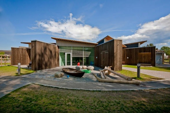 Day care center a modern architectural design is for Modern day house plans