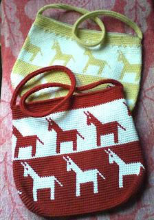 Bolsos de tapestry crochet