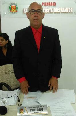 Vereador Pororó (PT) 1º Secretário
