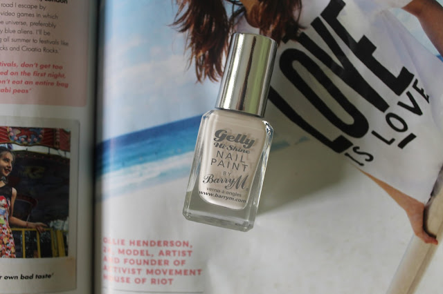 Barry M Gelly Hi-Shine in Coconut Nail Polish Beauty Blogger Blog