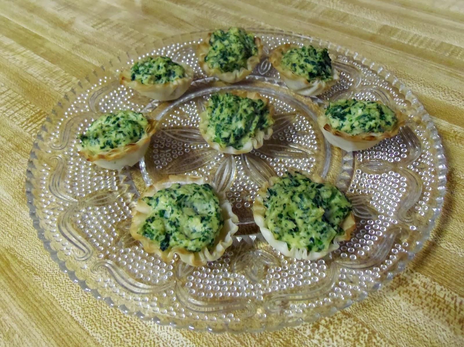 Glo's Kitchen: Artichoke Spinach Cups