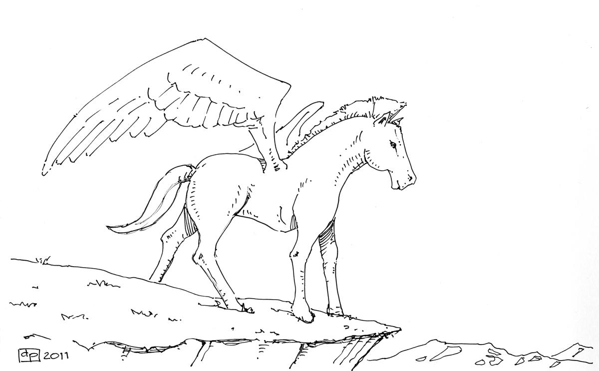Les dessins de daniel p gase pegasus - Comment dessiner un pegase ...