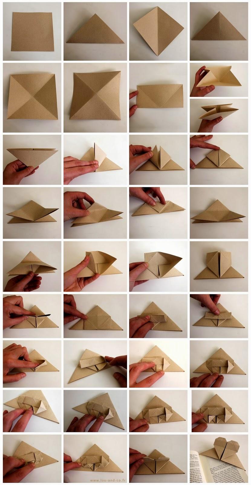 Marca-páginas origami corazón2