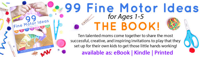 Order your copy of 99 Fine Motor Ideas for Ages 1 to 5 from And Next Comes L