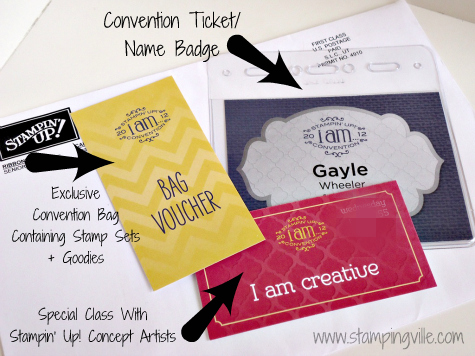 Name Badge for Stampin' Up! Convention 2012