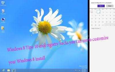 Windows 8 Tips: 10 cool registry hacks you can use to customize your Windows 8 install