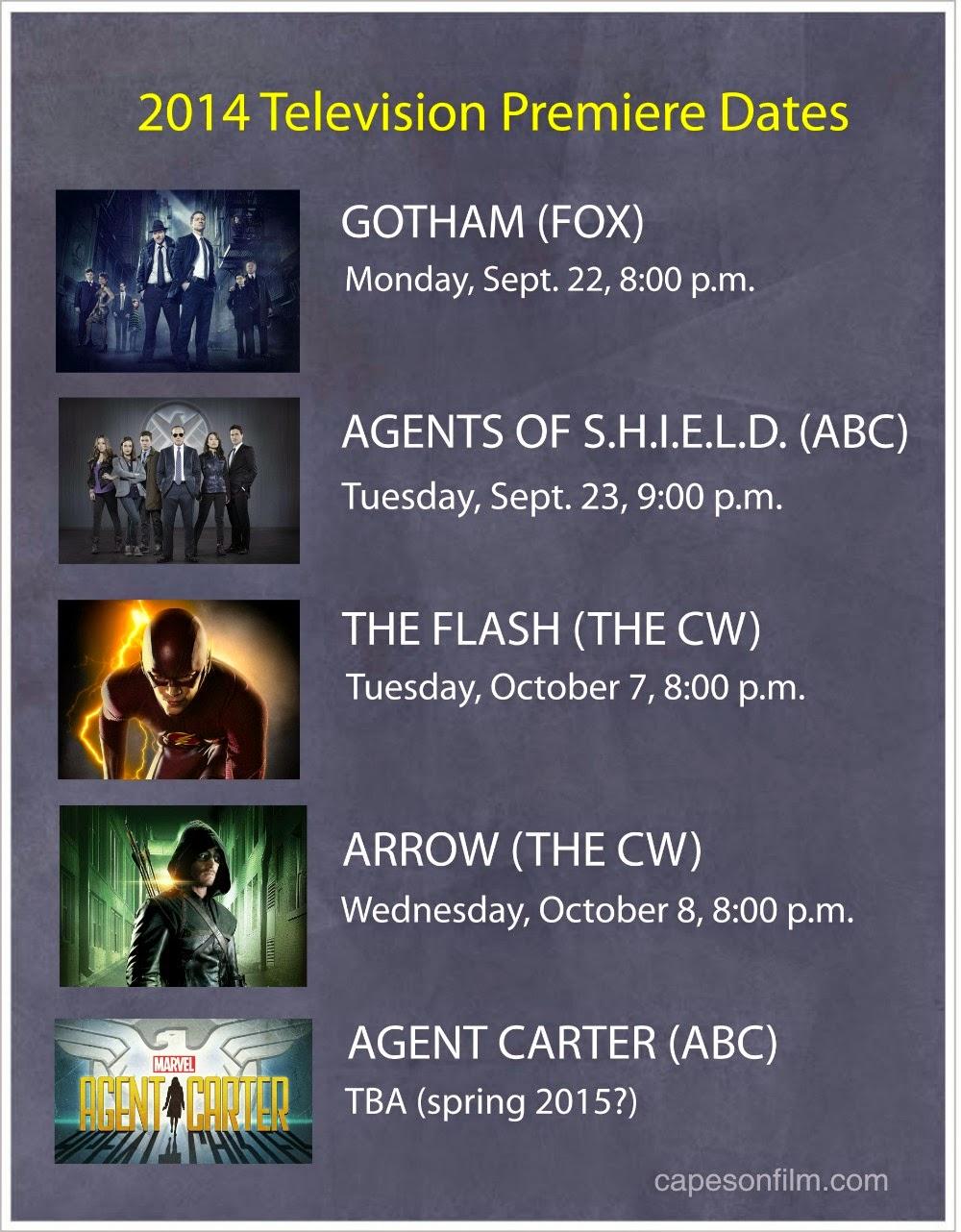 2014 TV premiere dates