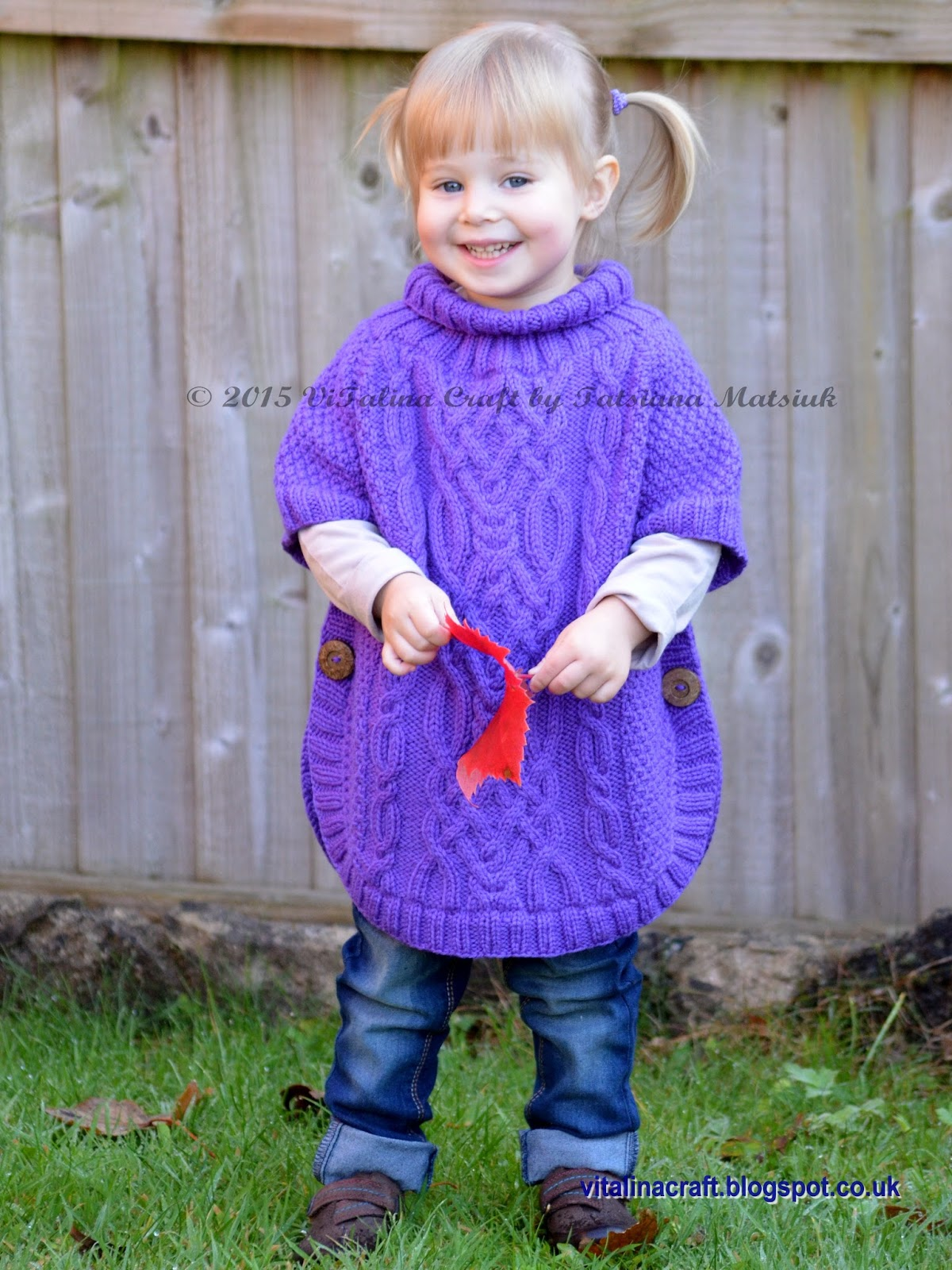 Knitting Patterns For Ponchos For Toddlers : Knitting Pattern - Cable Fantasy Poncho (Toddler and Child ...