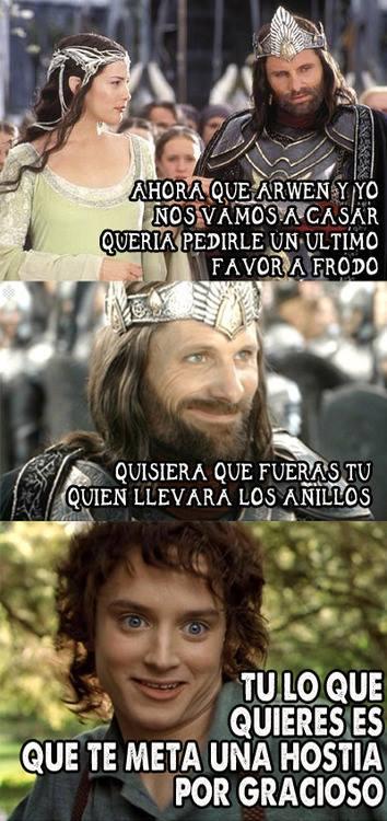 Memes en español de Señor Frodo
