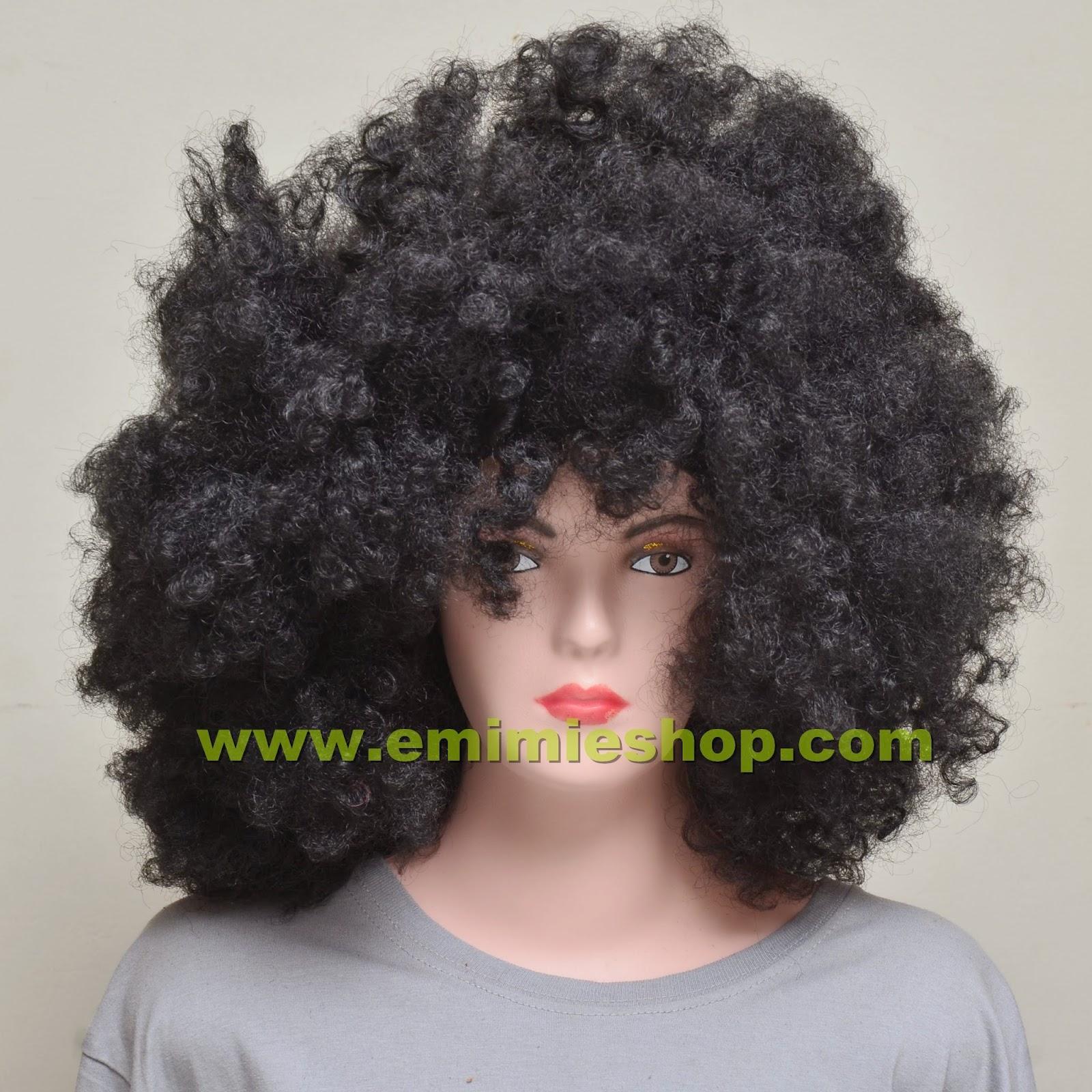 Wig Kribo Hitam Besar