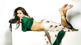 Vidya Balan white saree
