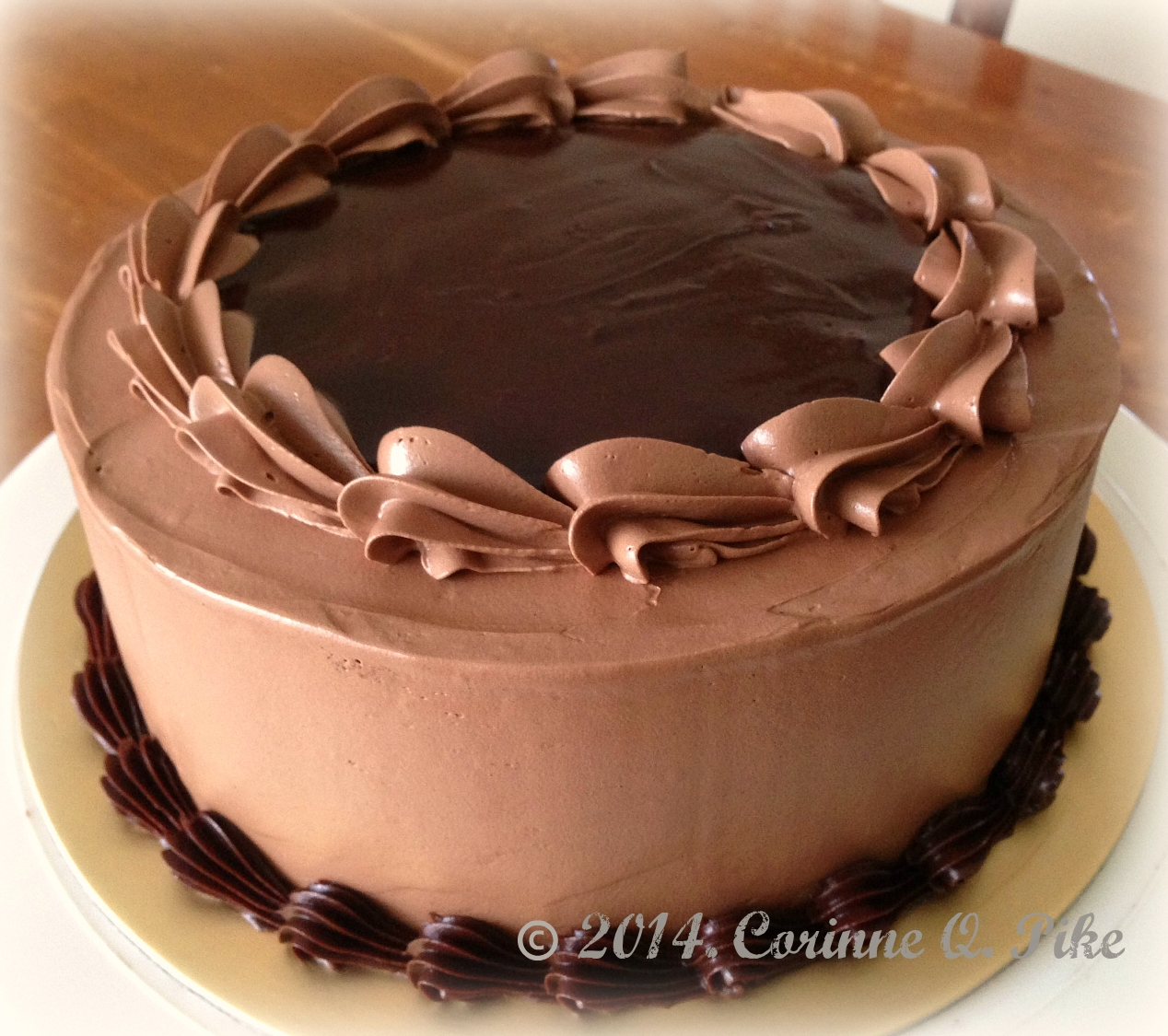 Cake Decorating Chocolate Piping : Heart of Mary: Triple Chocolate Cake