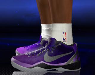 "NBA 2K14 Kobe 8 System ""Purple Gradient"" Shoes"