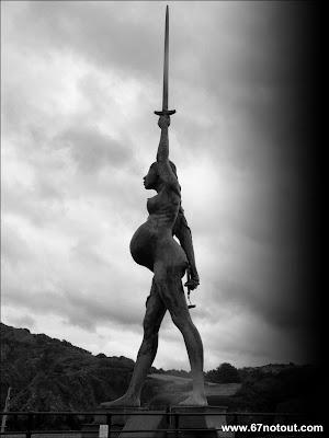 Verity, Ilfracombe, Pregnant Statue