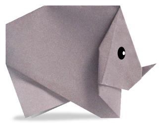 Rhinos Origami