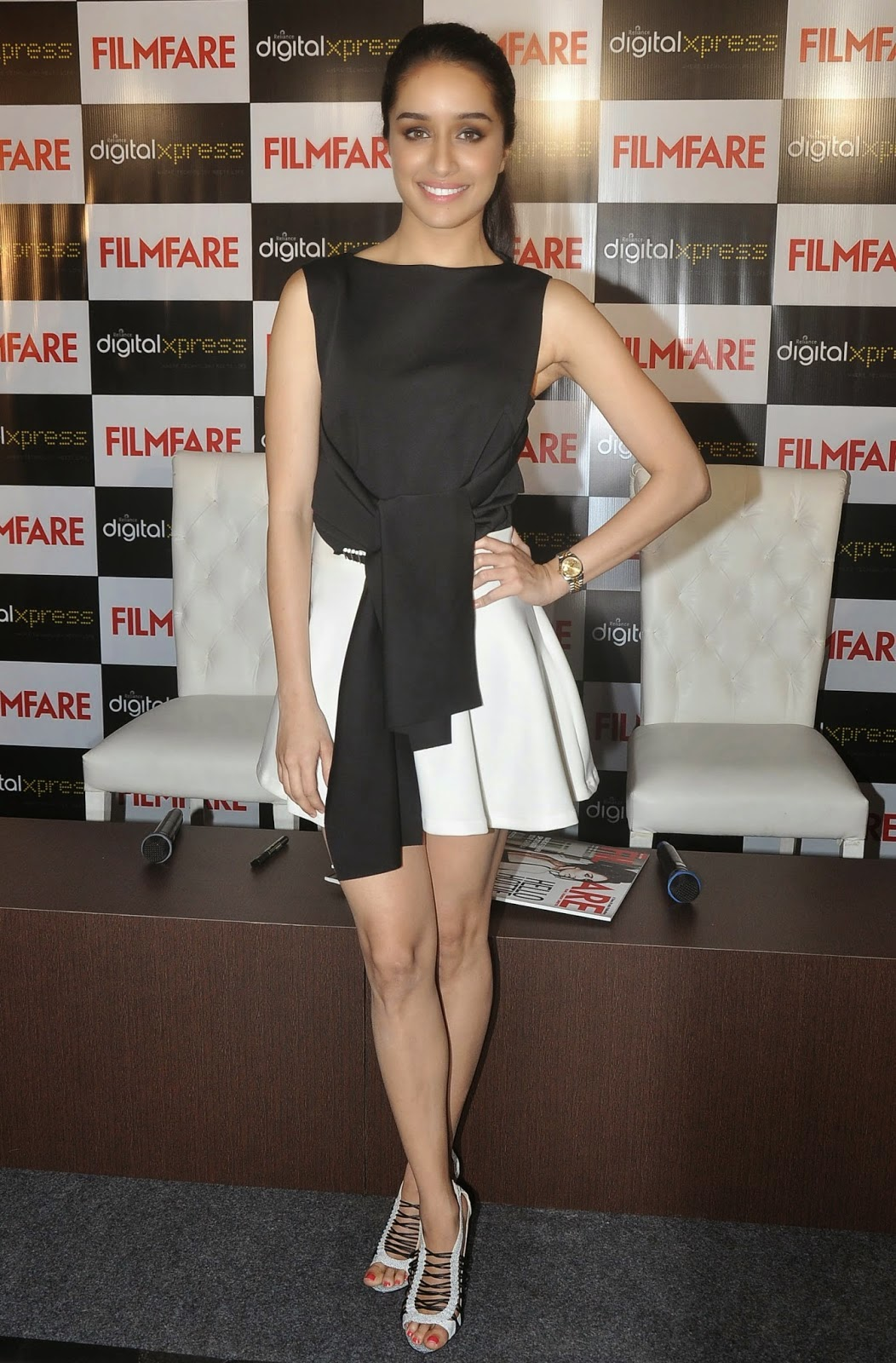 Shraddha Kapoor Looks Hot in Short Dress at Filmfare Magazine Cover Launch