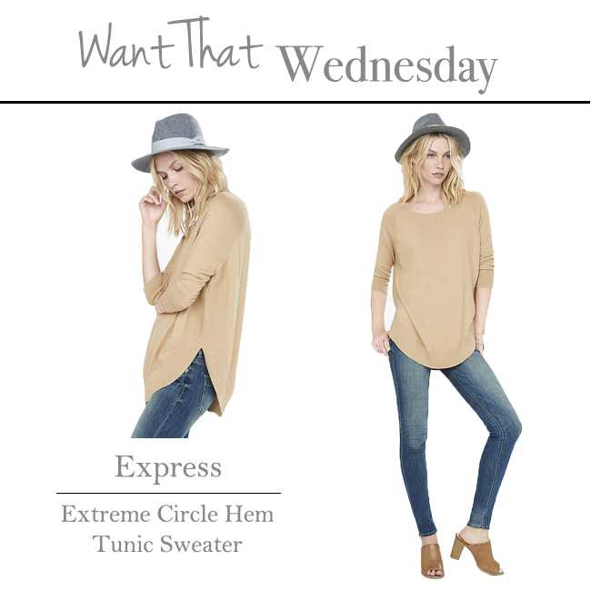 Want That Wednesday | Express Tunic Sweater