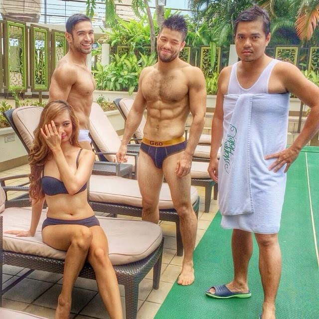 "Gloc 9, Mark ""Mugen"" Striegl, and Carlos Agassi for Guitar Underwear"
