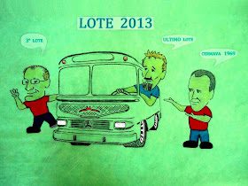 Confecção das miniaturas do ônibus Cermava ( Edição 2013 )