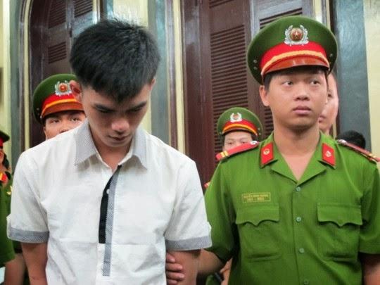 Bị cáo Trúc sau khi tuyên án tử