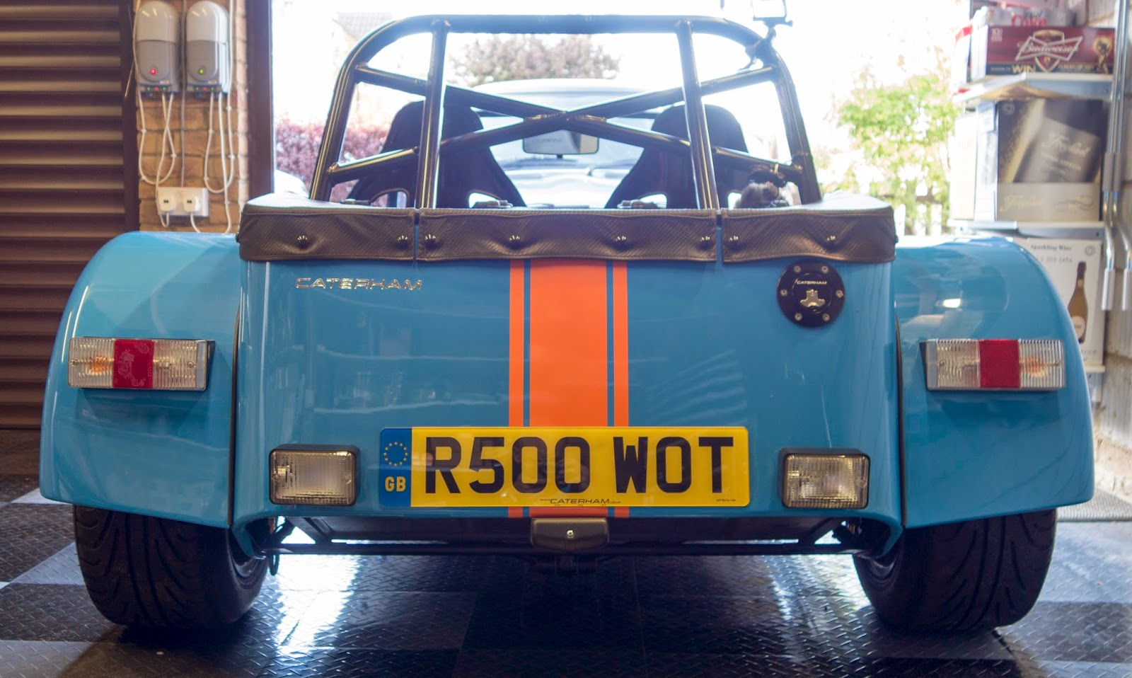Carbon rear indicator and lighting mounts fitted to Caterham R500.