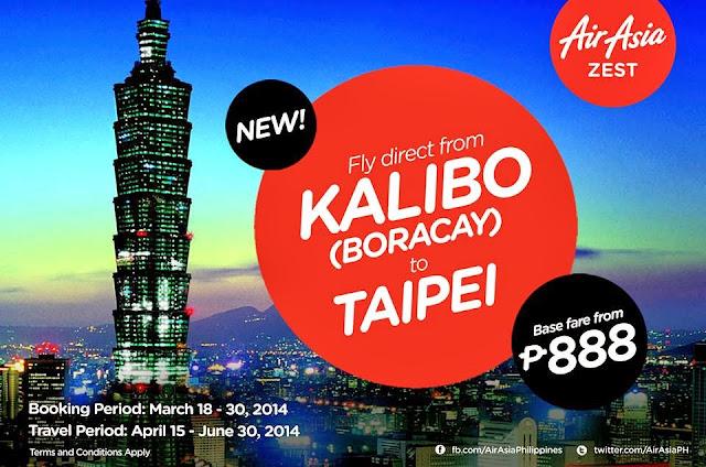 Kalibo Aklan to Taipei Taiwan