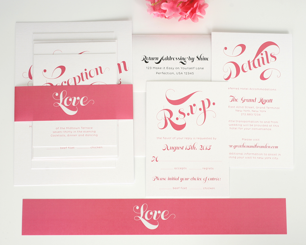 Wedding Wedding Invitation Packages heart wedding invitations