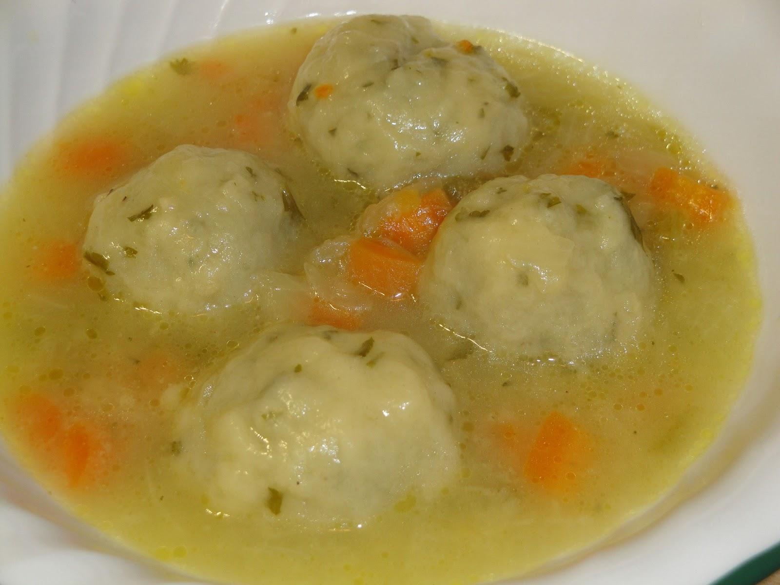 soup with parsley dumplings