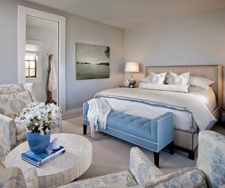 modern blue settee design