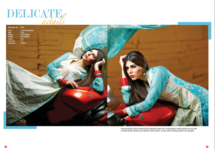 Ittehad Eid 2014 Izabell Embroidered chiffon Vol-2