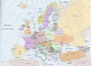 Este es el mapa de los países que forman Europa en la actualidad. (mapa politico europa)