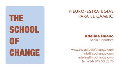 tarjeta The School of Change: Neuro Estrategias para el cambio: cursos y talleres profesionales de coaching