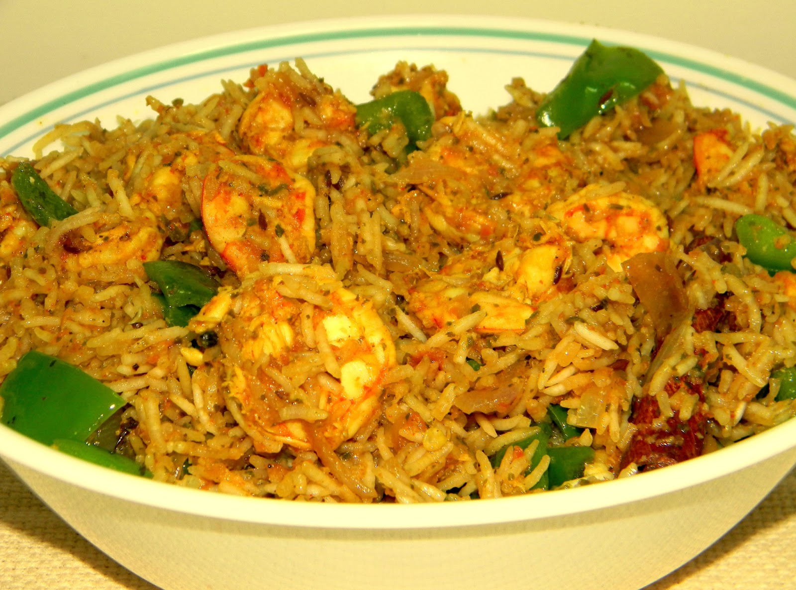 Prawn Biryani / Rice With Stir Fried Prawns | Anjali's Food ...