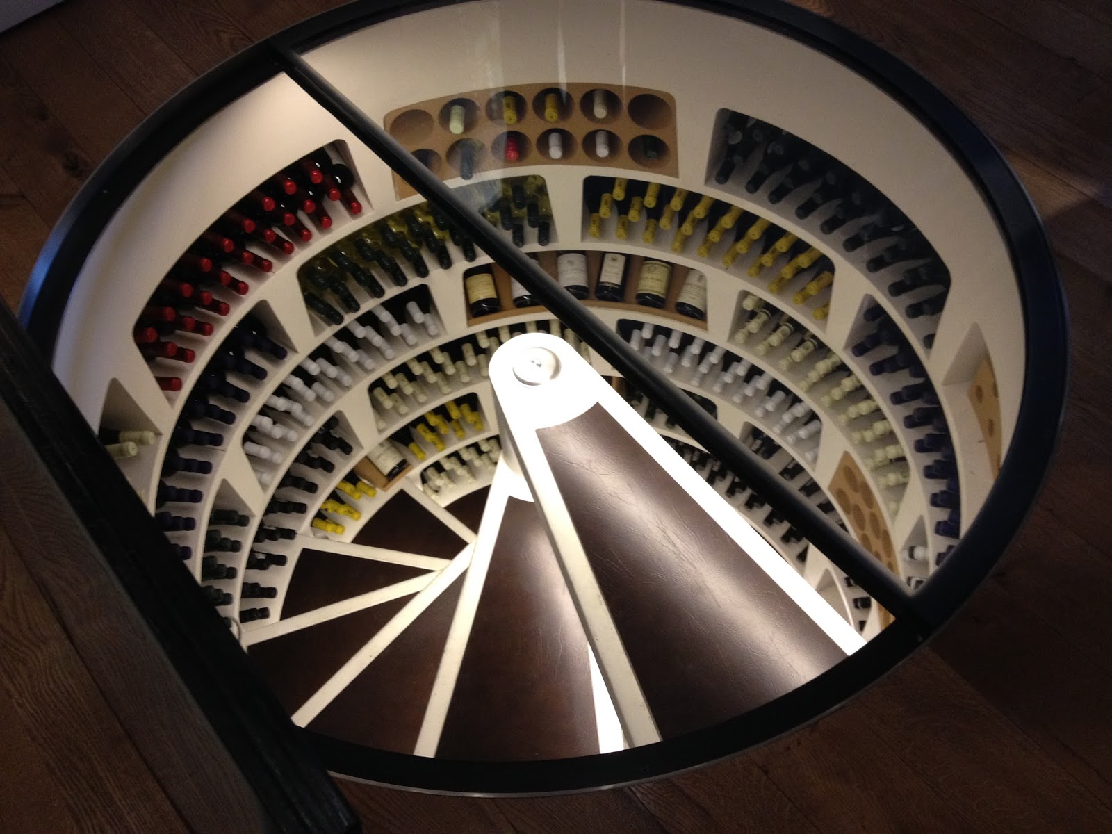 Travel with angela lansbury wine society spiral for Spiral wine cellar cost
