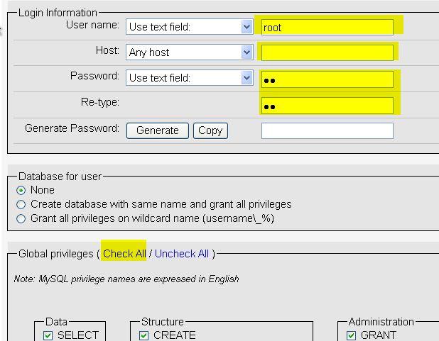 Mengatur MySQL bisa menggunakan jaringan (diakses dengan