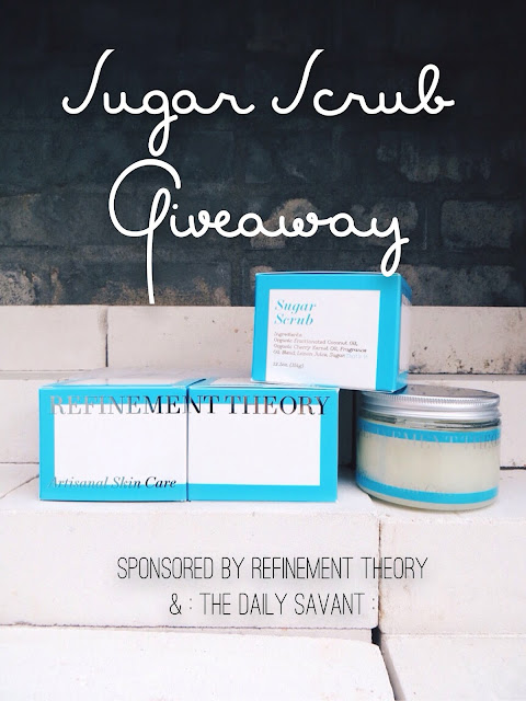 Refinement Theory, giveaway, freebie friday, greebie, giveaway, free stuff, contest, sweepstakes, organic, sugar scrub