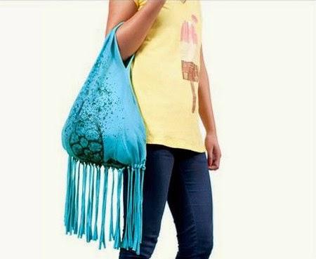Reciclar una camiseta y hacer un bolso portal de - Reciclar ropa manualidades ...