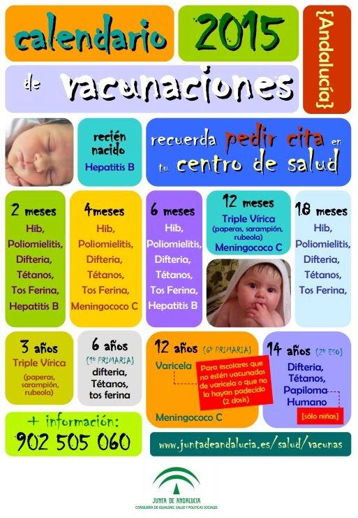 CALENDARIO VACUNAS INFANTILES