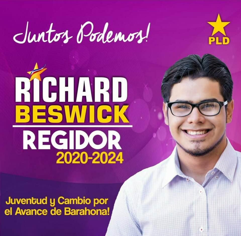 RICHARD BESWICK, Concejal PLD Santa Cruz de Barahona 2020-2024
