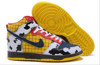 nike dunk toy story sneakers sheriff woody pride pattern