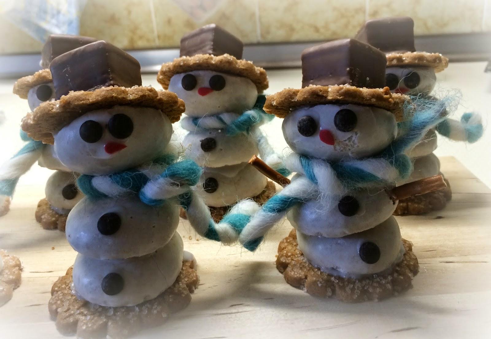 Keks-Schneemänner - Ideenpiratin