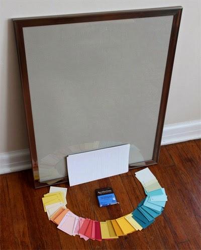 Basteln mit Farbkarten: Bunter Rahmen für die Wohnung