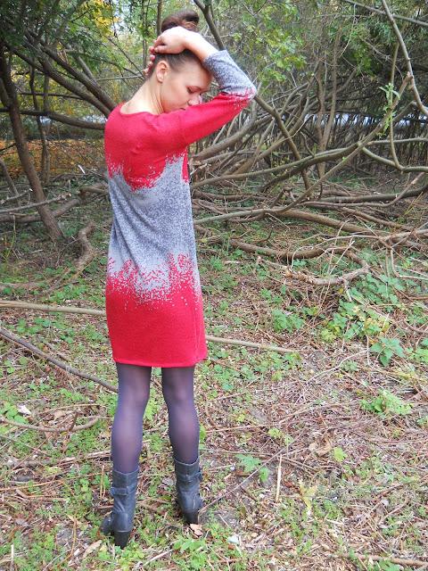 sukienka sweter oryginalna