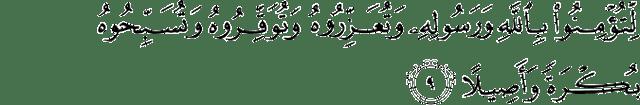 Surat Al-Fath Ayat 9